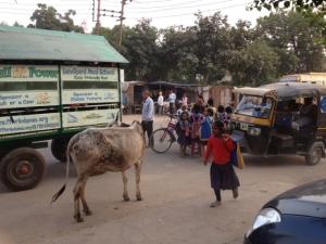 Blick auf die Hauptstraße Mathura Road.